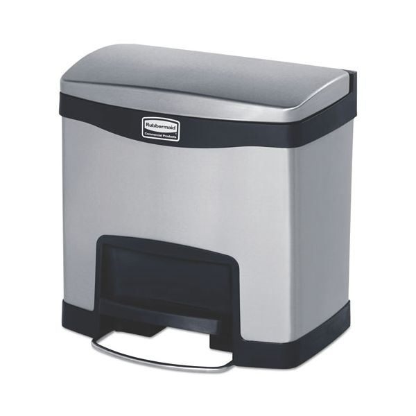 Rubbermaid Slim Jim Stainless Steel Step-On 4 Gallon Trash Can