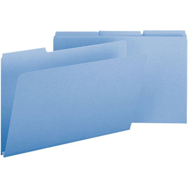 Smead 22530 Blue Colored Pressboard File Folders