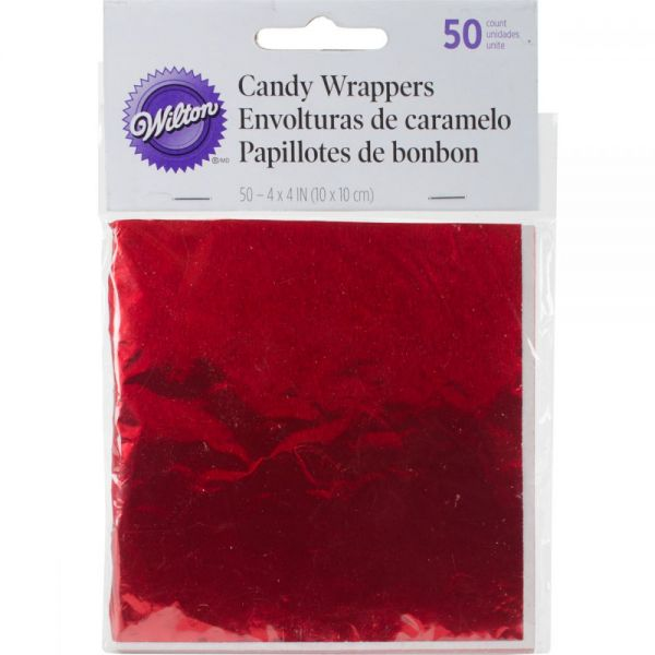 "Foil Candy Wrappers 4""X4"" 50/Pkg"