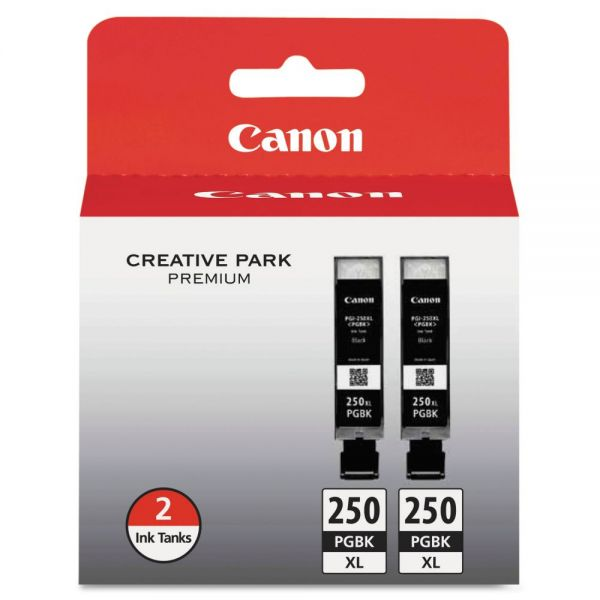 Canon PGI-250XL Black High Yield Twinpack Ink Cartridges (6432B004)