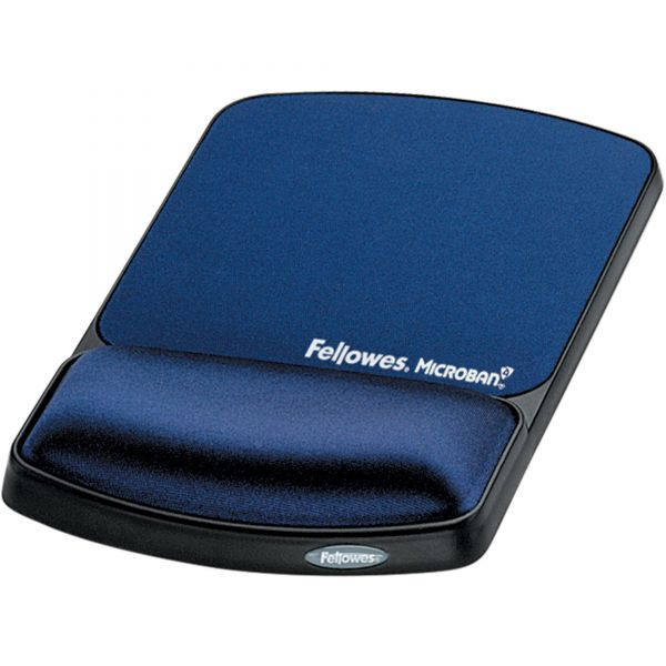 Fellowes Wrist Support with Microban Protection, Sapphire/Black