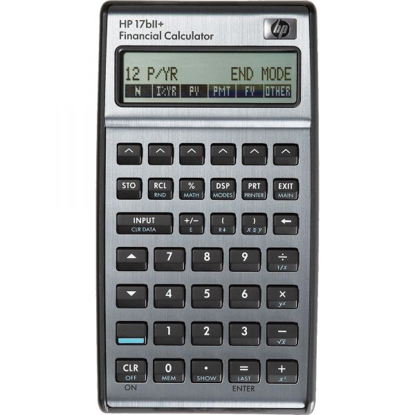HP 17bII+ Financial Calculator, 22-Digit LCD