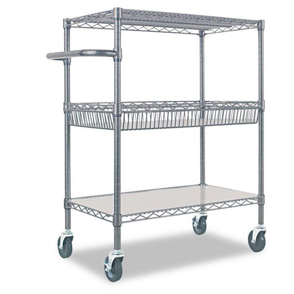 Alera Three-Tier Rolling Cart