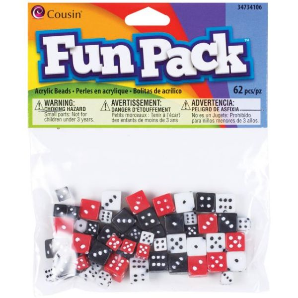 Cousin Fun Pack Acrylic Beads