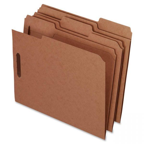 Pendaflex Kraft Fastener Folders, 2 Fasteners, 1/3 Cut Tabs, Letter, 50/Box