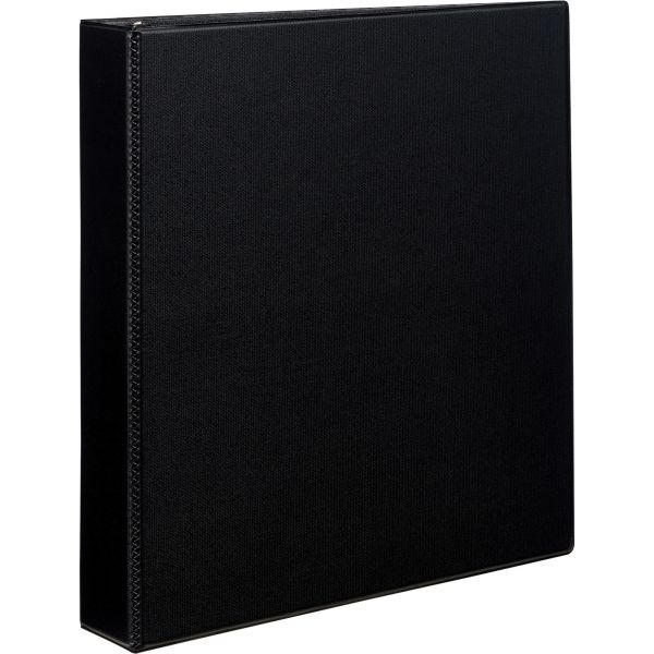 "Avery Durable Binder with Two Booster EZD Rings, 11 x 8 1/2, 1 1/2"", Black"