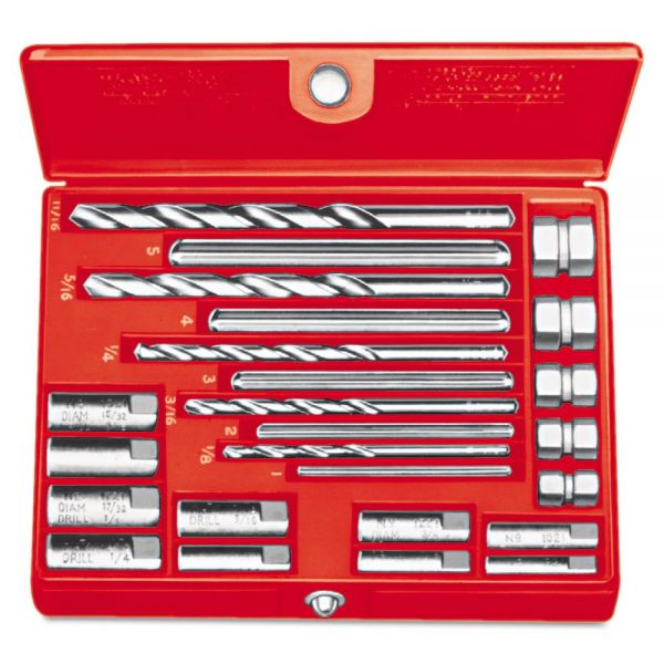 RIDGID No. 10 Screw Extractor Set, 20-Piece, Spiral-Flute