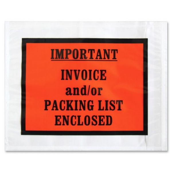 Sparco Pre-labeled Important Invoice Envelopes