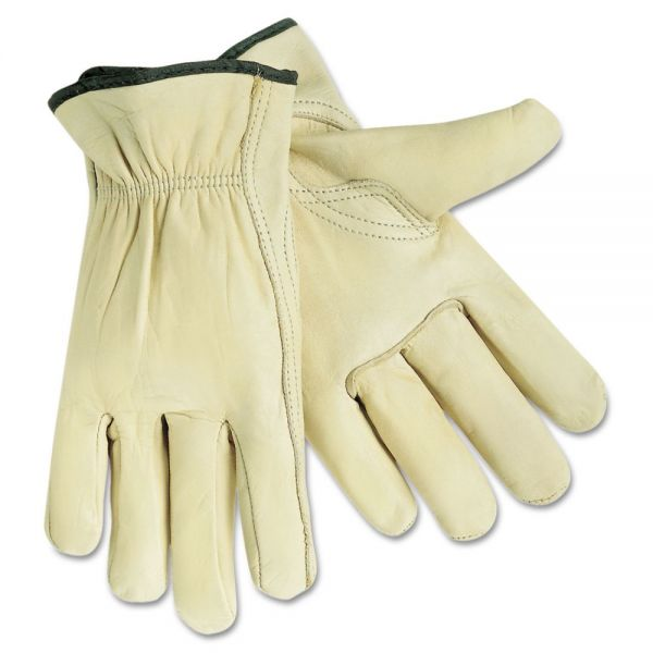 MCR Safety Full Leather Cow Grain Gloves, X-Large, 1 Pair