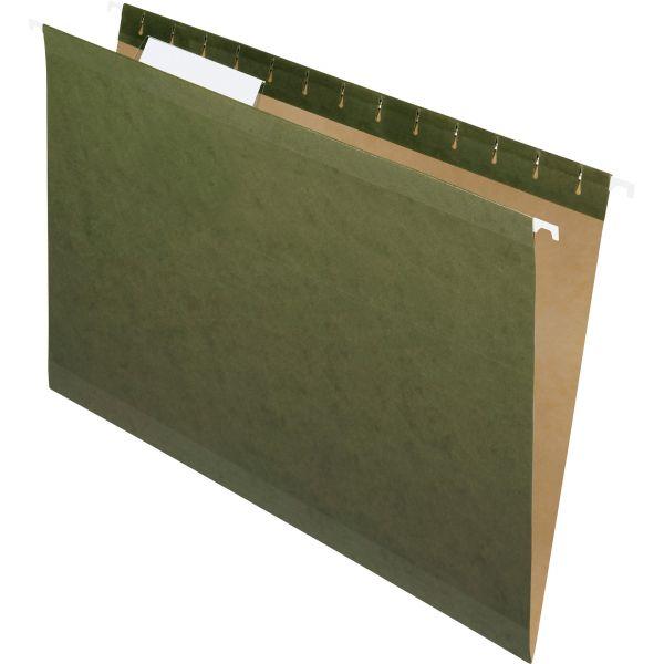 Pendaflex Hanging File Folders, 1/3 Tab, Legal, Standard Green, 25/Box