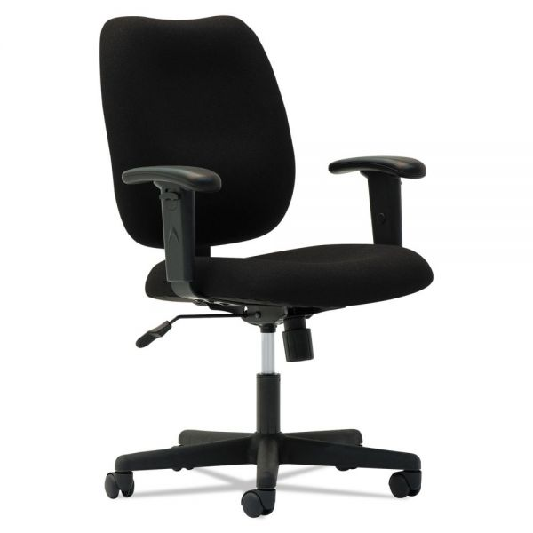OIF Upholstered Mid-Back Task Chair w/Height Adjustable T-Bar Arms