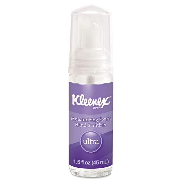 Kleenex Travel Size Ultra Moisturizing Foam Hand Sanitizer