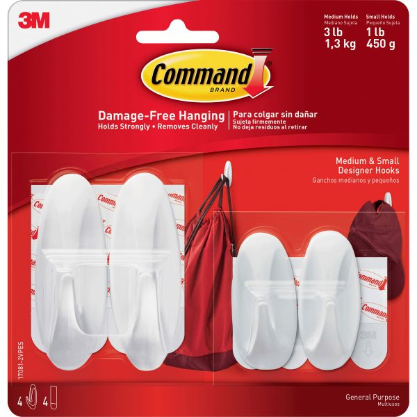 Command Small & Medium Sized Designer Hooks