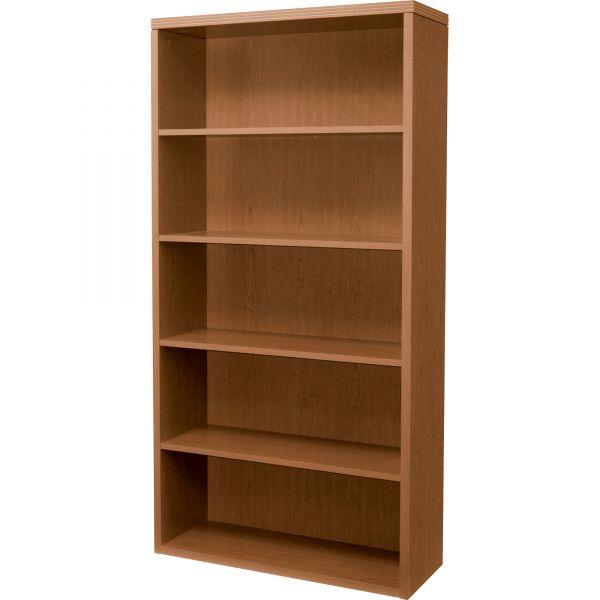 HON Valido 11500 Series Bookcase, Five-Shelf, 36w x 13-1/8d x 71h, Bourbon Cherry