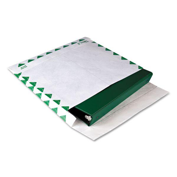 Survivor Tyvek Booklet Expansion Mailer, 1st Class, 10 x 13 x 2, White, 18lb, 100/Carton