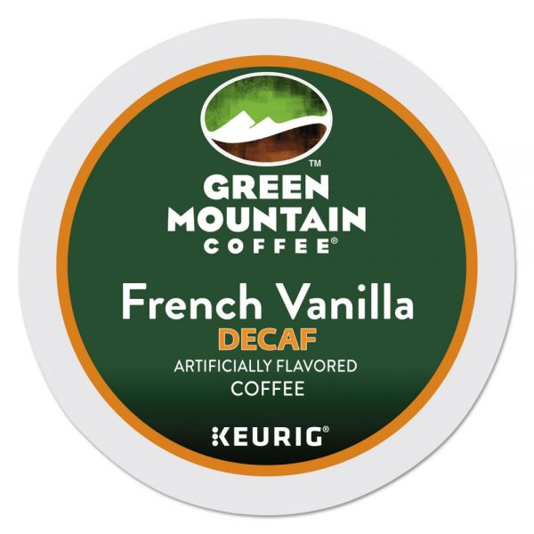 Green Mountain Coffee French Vanilla Decaf Coffee K-Cups, 24/Box