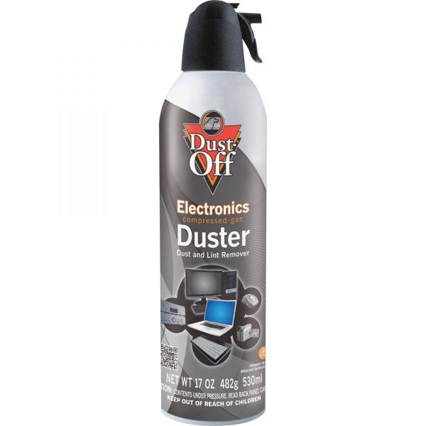 Dust-Off Disposable Compressed Air Duster, 17 oz Can