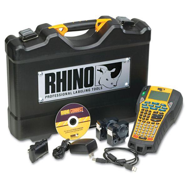 DYMO Rhino 6000 Industrial Label Maker Kit, 5 Lines, 13 4/5w x 17 4/5d x 4h