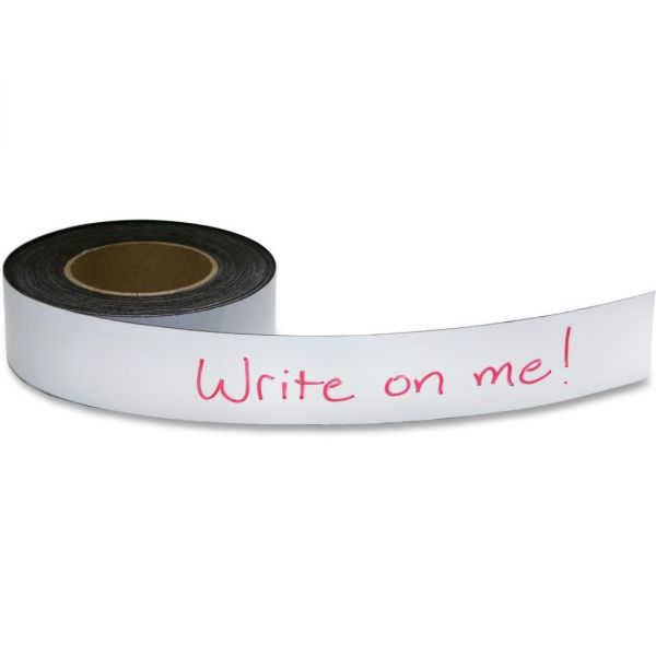 """Zeus Write On / Wipe Off Magnetic Label Tape 50' x 2"""" WHITE (66152)"""
