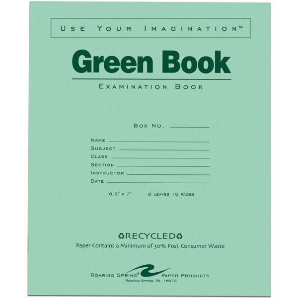 Roaring Spring Green Book Examination Books