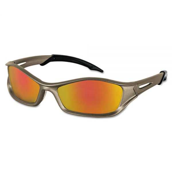 Crews Tribal Tattoo Protective Eyewear, Champagne Frame, Fire-Mirror Lens