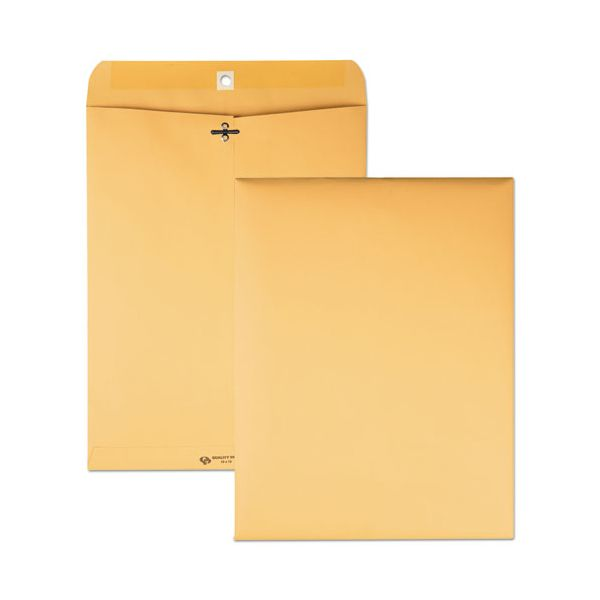 Quality Park Clasp Envelope, 10 x 13, 32lb, Light Brown, 100/Box