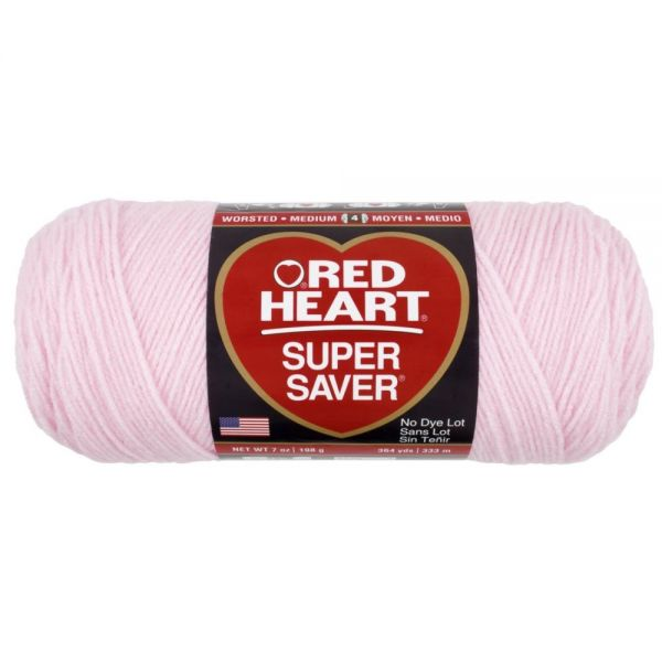 Red Heart Super Saver Yarn - Baby Pink