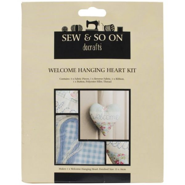 Sew & So On Hanging Heart Kit