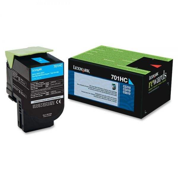 Lexmark 70C1HC0 Cyan High Yield Return Program Toner Cartridge