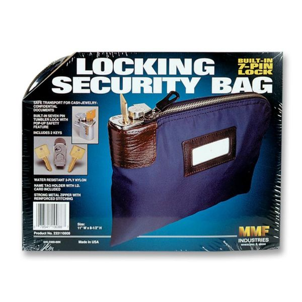 MMF Locking Security Bag With Label Holder