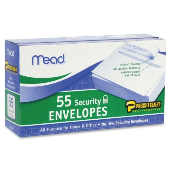 Mead Press-it No. 6 Security Envelopes