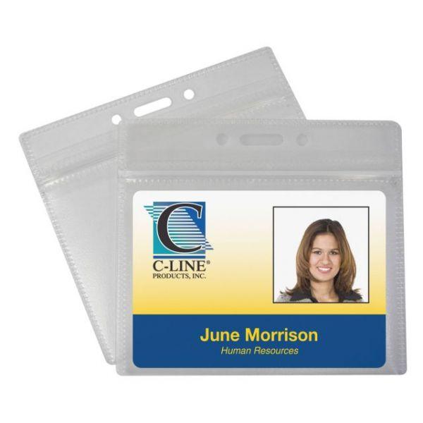 C-Line Zippered ID Badge Holders