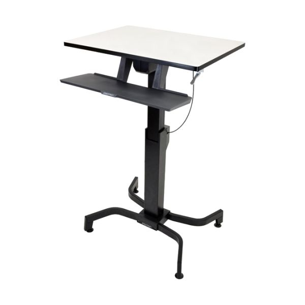 Ergotron WorkFit-PD, Sit-Stand Desk (Light Grey)