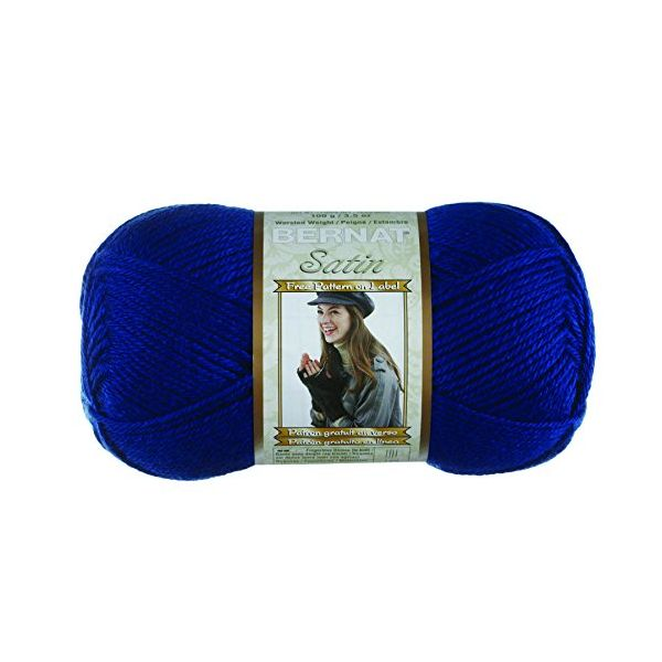Bernat Satin Yarn - Loyal Blue