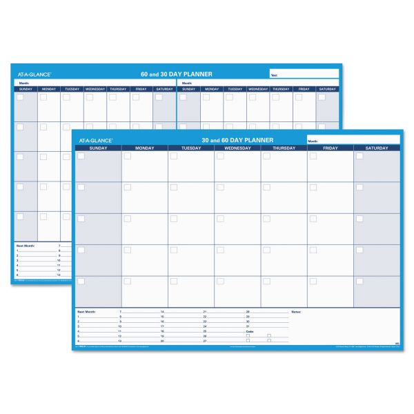 At-A-Glance Undated Horizontal Erasable Wall Planner