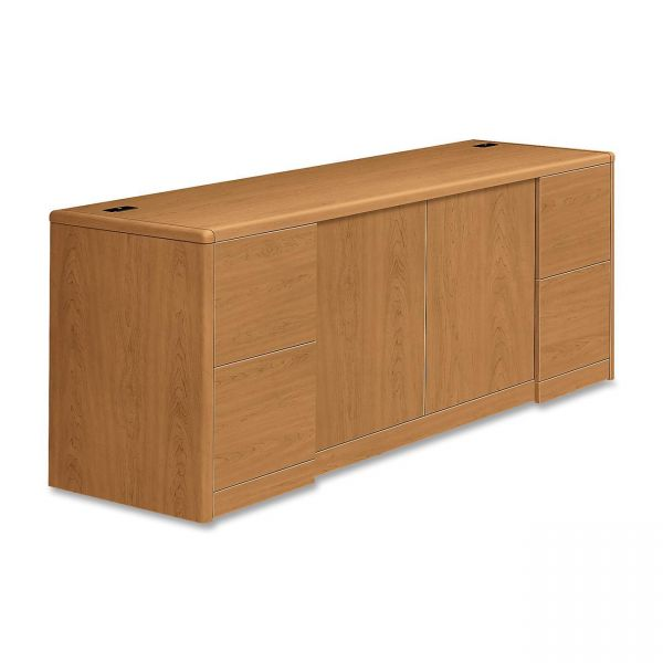 "HON 10700 Series Double Pedestal Credenza with Doors | 4 File Drawers | 72""W"