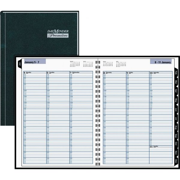AT-A-GLANCE DayMinder Hardcover Weekly Appointment Book, 8 x 11, Black, 2019