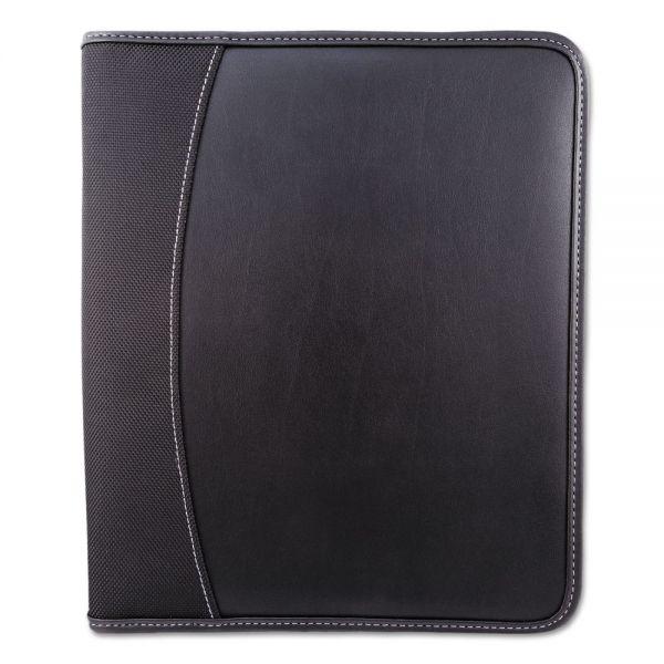 bugatti Writing Case, 9 x 11 x 1, Black, Leather