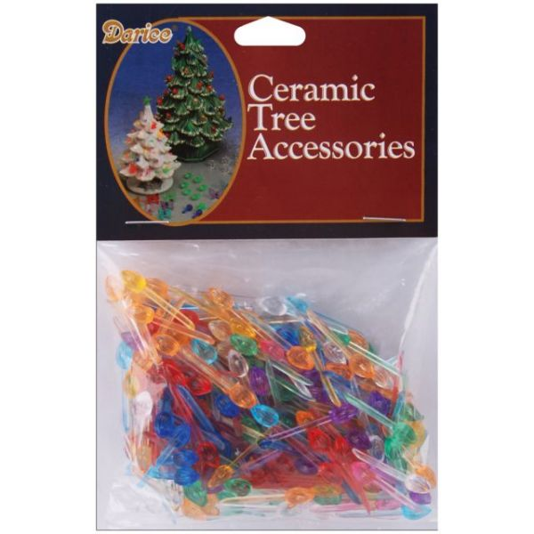 "Ceramic Christmas Tree Bulbs .25"" 250/Pkg"