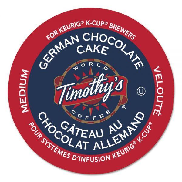 Timothy's World Coffee German Chocolate Cake Coffee K-Cups