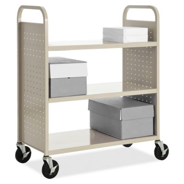 Lorell Flat Shelf Book Cart