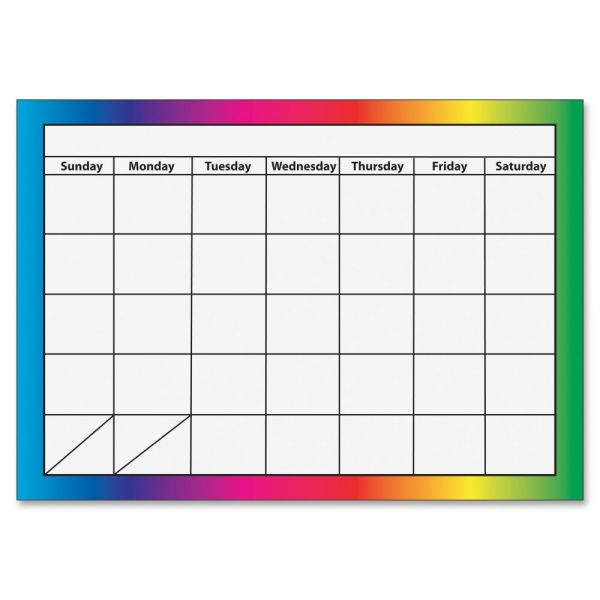 Ashley 1-month Dry Erase Magnetic Calendar