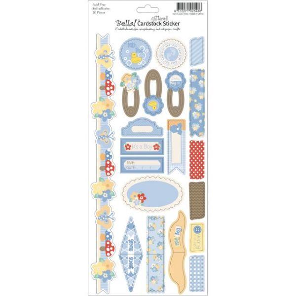 "Bella! Baby Boy Glitter Cardstock Stickers 4.5""X12"""