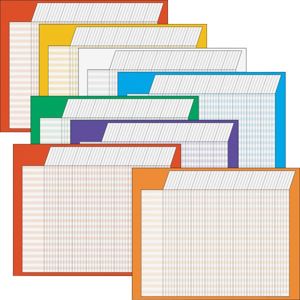 TREND Horizontal Incentive Chart Pack, 28w x 22h, Assorted Colors, 8/Pack