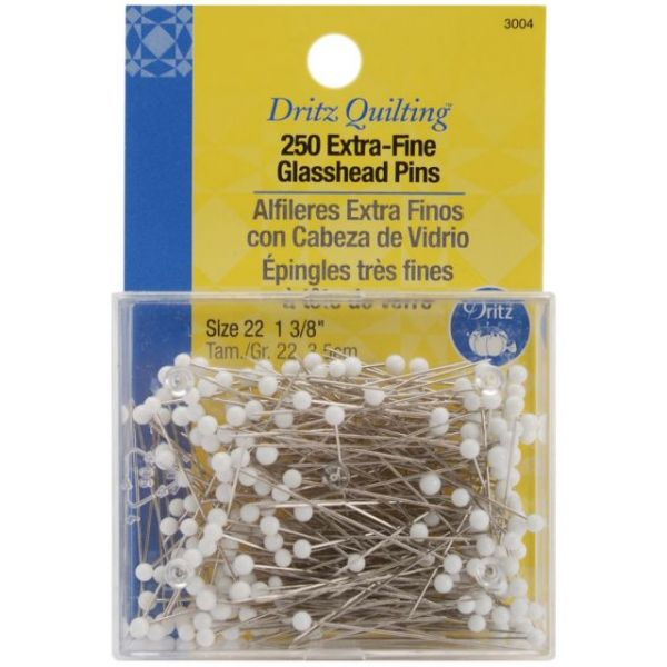 Dritz Quilting Extra Fine Glass Head Pins