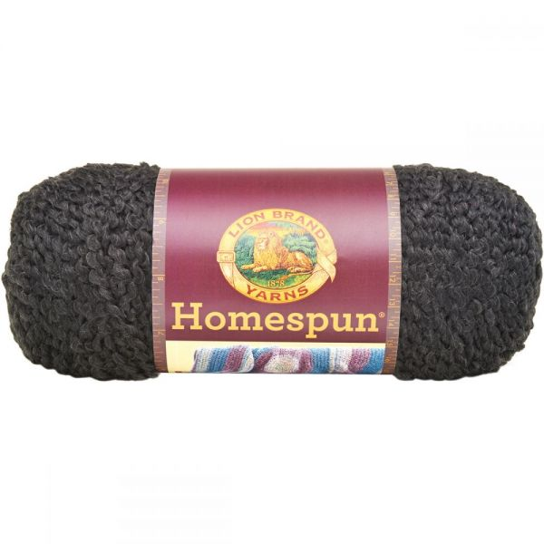 Lion Brand Homespun Yarn - Black