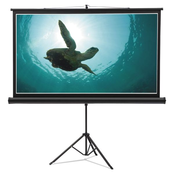 Quartet Wide Format Tripod Base Projection Screen, 52 x 92, White