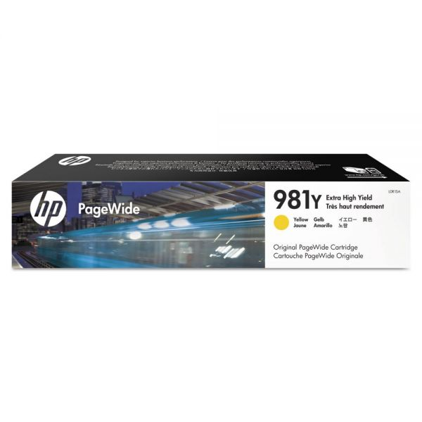 HP 981Y Yellow Extra High-Yield Ink Cartridge (L0R15A)