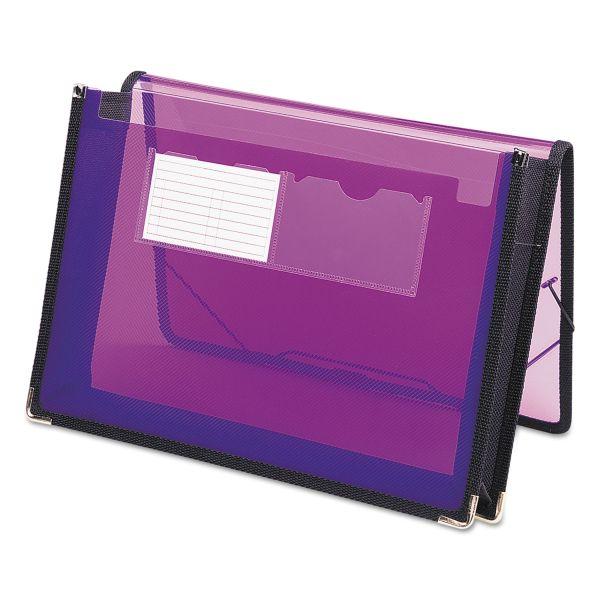 """Smead 2 1/4"""" Exp Wallet, Poly, Letter, Translucent Purple"""