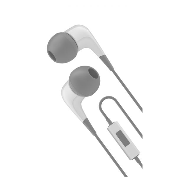 Cygnett 2XS Wired Headphones With Built-in-mic - Grey & White
